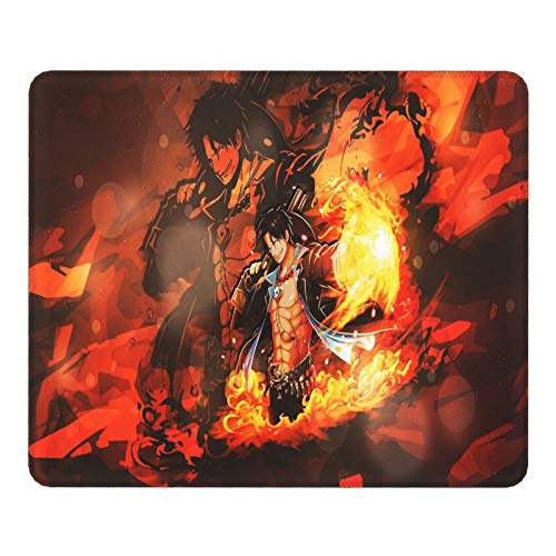 One Piece Mouse Pad,Anime Luffy Mouse pad, Non-Slip Rubber Base, Keyboard Pad with Durable Stitched Edges 11.8in X 9.8in(Thicken)