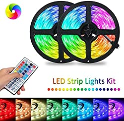 Isopeen RGB LED Strip Flexible Light 44-Key Infrared Remote Control LED Bulbs Decoration Led Strip