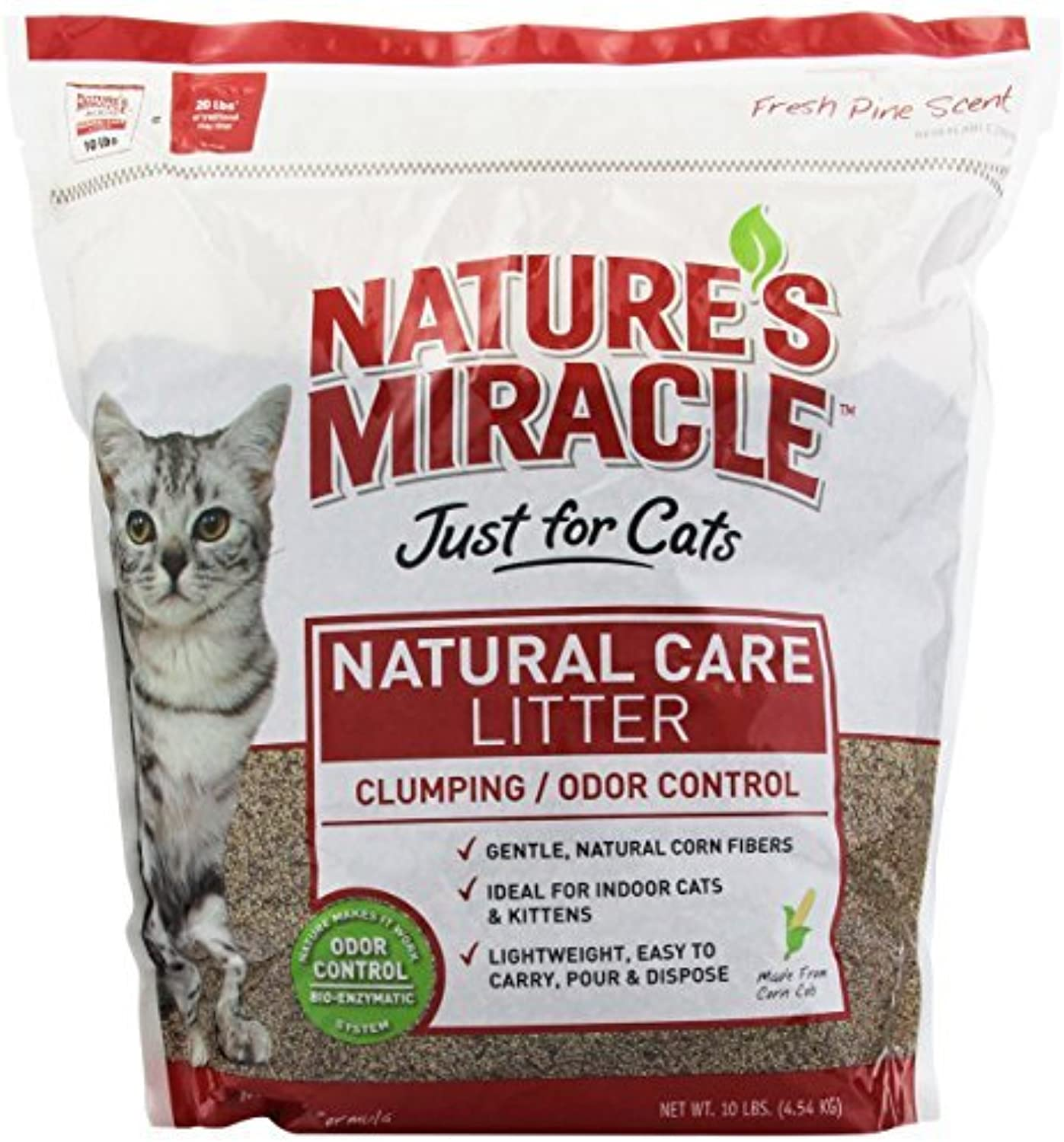Nature's Miracle Odor Control Corn Cob Clumping Cat Litter, 10 lbs (5310) by Nature's Miracle