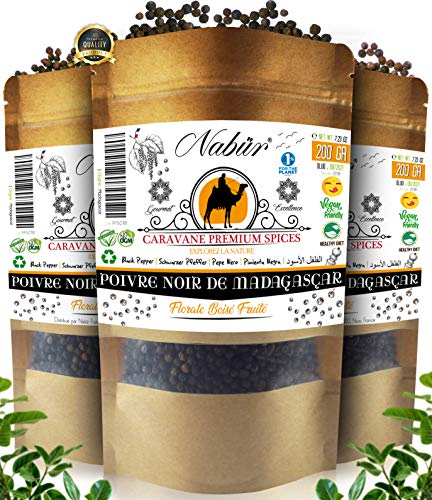 Pimienta Negra Grano de Madagascar 205 Gr ⭐ Nabür Gourmet ⭐ Notas florales