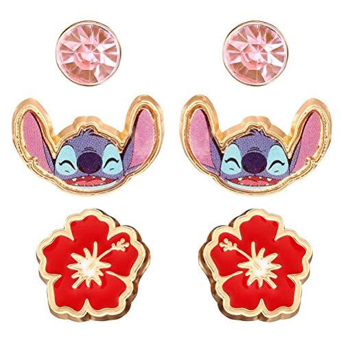 Disney Lilo y Stitch de 3 Piezas del Pendiente