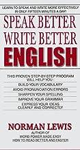 Speak Better Write Better