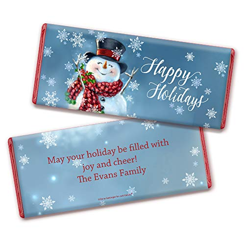 Personalized Christmas Candy Bar Wrappers with Red Foil 25 Wrappers