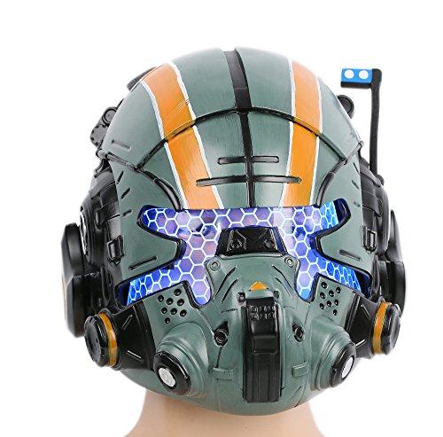 Xcoser Halloween Helm Deluxe Grün Harz Maske mit LED Spiel Cosplay Kostüm Replik für Herren Verrücktes Kleid Zubehör