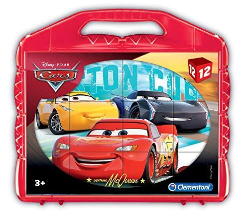 Clementoni- Cars Rompecabezas maletín 12 cubos, Multicolor (41185) , color/modelo surtido