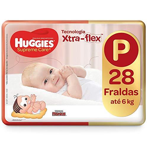 Fralda Huggies Supreme Care P - 28 Fraldas, Huggies, Vermelha, P