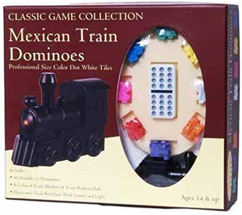 Mexican Train Dominoes With Train Markers And Hub by Classic Game Collection