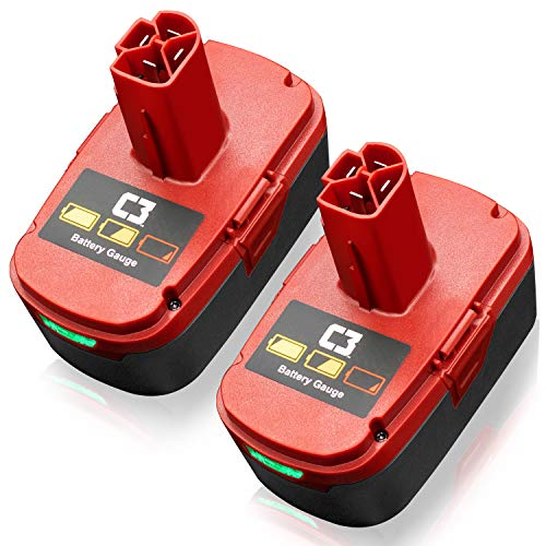 [Upgraded 6000mAh] 19.2 Volt Replacement Lithium Battery for Craftsman DieHard C3 315.115410 315.11485 130279005 1323903 120235021 11375 11376 Cordless Drills 2 Packs