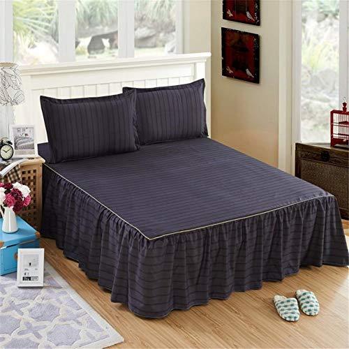Modern Anti-slip Bed Rok Wrap Ruche Elastische Band Valance Hoeslaken Enkele Kleine Tweepersoonsbed Base Rok Slaapkamer Comfortabele Valances Voor Bedden Gemakkelijk Verzorging