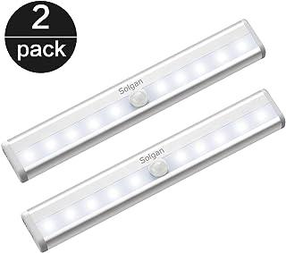 Lámpara LED de Armario, Sensor de Movimiento, Sensor de Luz Interior, Autoencendido/Apagado, Lámpara LED Nocturna para Armario/Cajón/Camino, 10 LED, 2 unidades