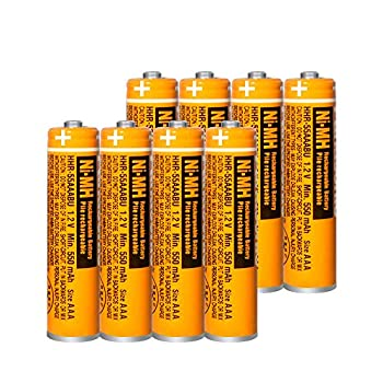 8 Pack HHR-55AAABU NI-MH Rechargeable Battery for Panasonic 1.2V 550mAh AAA Battery for Cordless Phones