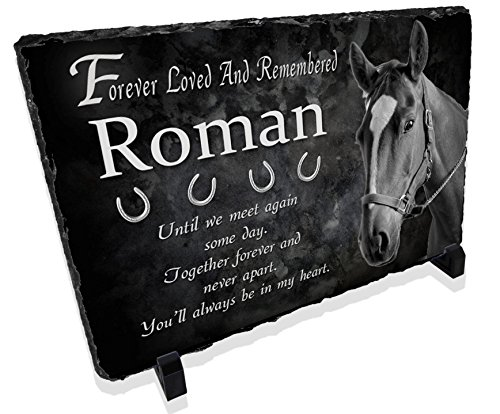 Redeye Laserworks Personalized Horse Memorial Prayer Stone Plaque from