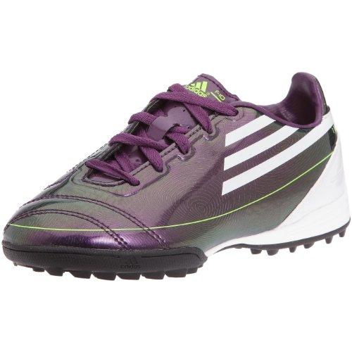 adidas F10 TRX TF J – Zapatillas de fútbol Terreno sintético para niño, Morado (Violeta, Blanco y Amarillo), 34 EU