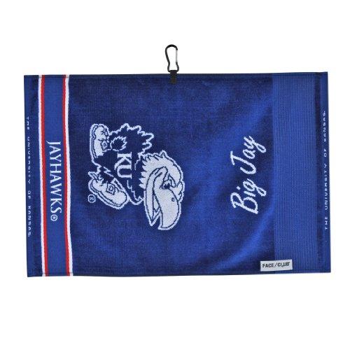 Team Effort Kansas Jayhawks Face/Club Jacquard Towel