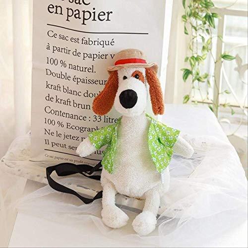 N\A 1pc Kawaii Yellow Duck Dog Cartoon Rucksack Weiche Tiertasche Für Jungen Mädchen Geschenke Für Jungen Und Mädchen 31cm-50cm weißer Hund