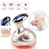 4 in 1 Body Shaping Massager Radio Frequency Device Red Light Vibration Weight Loss Machine RF Warm Sliming Massager with Smart LCD Display