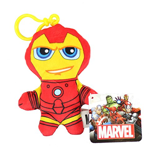 Bargains-Galore - Portachiavi in morbido peluche, motivo: personaggi del fumetto'Marvel Avengers' IRONMAN