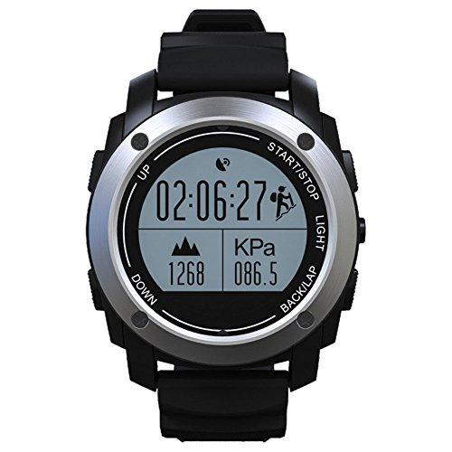 GPS funzione Smart sport Watch, vita impermeabile Smart sport Watch, fitness tracker contacalorie contapassi sonno monitor intelligente orologio sportivo nero