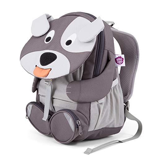 Affenzahn Großer Freund - Kindergartenrucksack für 3-5 Jährige Kinder im Kindergarten und Kinderrucksack für die Kita - Hund - Grau