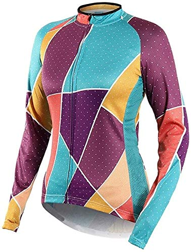 LCSA Jersey Long Sleeve, Printing Cycling Clothing for Men, Breathable Quick Drying Cycling Clothing, Bicycle MTB Tops Sportswear (Color : Hellgrün, Size : XL)