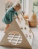 MAMI | Triangolo di Pikler per Bambini | Struttura per Arrampicata da Interno | Realizzato in Legno Naturale | Scivolo Incluso