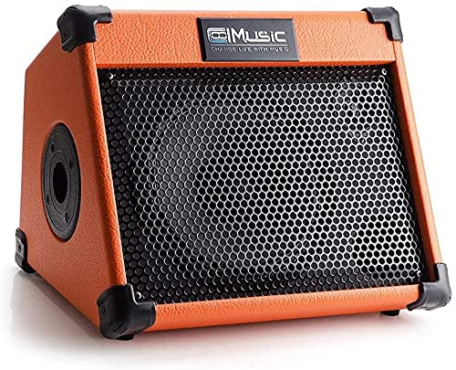 Coolmusic AC20 Amplificatore per chitarra acustica Bluetooth da 20 W, due canali, con riverbero e coro