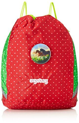 ERGOBAG Horse LovBear Kinder-Sporttasche, 44 cm, 21 L, Red Dots