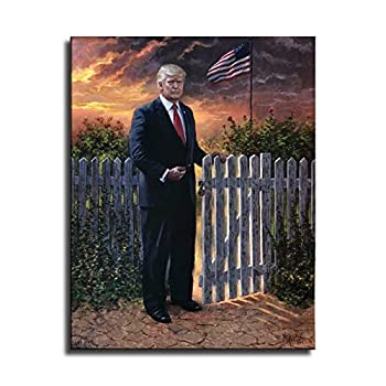 FINDEMO Jon McNaughton Make America Safe Donald Trump Canvas Decor Painting Posters Decor for Living Room Prints Bedroom Large Wall Art Picture #390  Unframed,24x36 inch