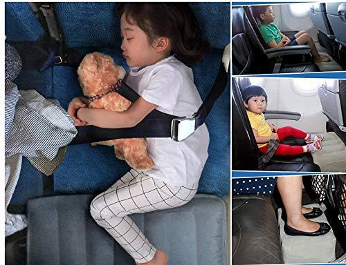 HAIYANLEフットレスト足置き足枕3段階の高さ調節子供が飛行機で快適に眠られる実現車用飛行機用防水旅行用便利グッズ汚れ防止カバー収納袋付き