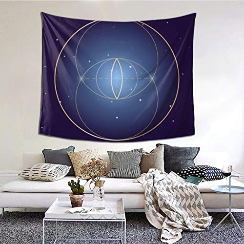 Clothing decoration Vesica Piscis Symbol Sacred Geometry Tapestry Wall Art Hanging Home Living Room Bedroom Decor 60 * 51inch