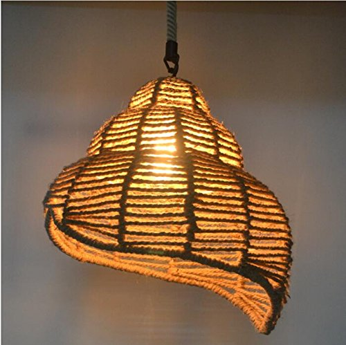 BWLZSP Pastoral Americana Retro Industrial Conch cáñamo lámparas Bar Restaurante Tienda de mariscos Tienda de Olla Caliente lámparas Personalizadas lu1271147py