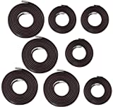 Universal 8 Replacement Cords for Zero Gravity Chair Replacement Laces Premium Bungee Ropes Recliner Repair Parts for Lounge Chair Anti Gravity Chair (Brown 4 Longs 4 Shorts)