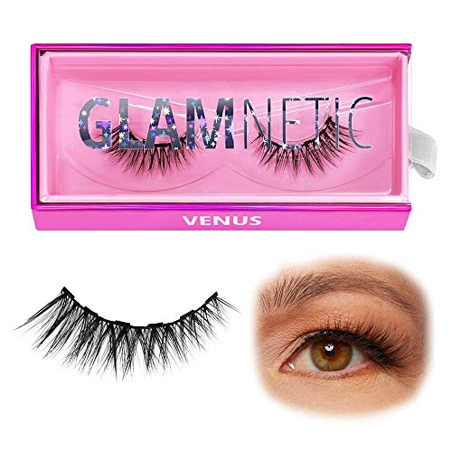 Glamnetic Lashes - Venus   Vegan Magnetic Eyelashes, Short Cat Eye Faux Mink Lashes, Flared 3D Natural Look, Reusable up to 40 times - 1 Pair