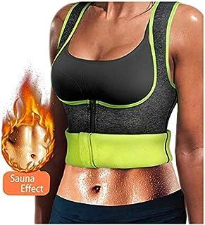 Chaleco Neopreno Sauna, Faja Adelgazante Mujer, Compresion Reductora para Conseguir una Sudoración efectiva para Deporte Fitness Gris