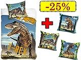 Trendhaus Aktion T-REX Tyrannosaurus - Juego de funda de edredón y de...