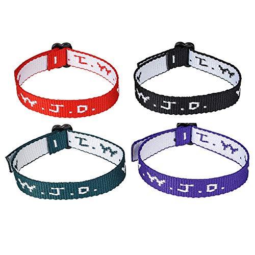 Rhode Island Novelty W.W.J.D. Webbing Bracelets, One Dozen per Order