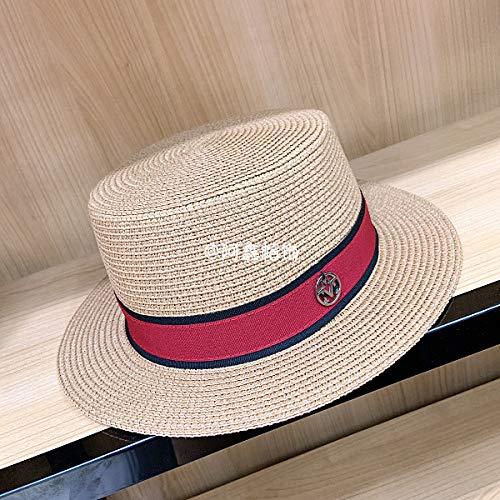 sdssup M Standard Rot mit kleinem, flachem Hut, geflochtener Khaki-Farbe