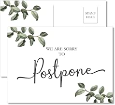 "20 Change the Date Cards 4x6"" Greenery Wedding Postponing Rescheduling Event Postponed Show Expo Conference Fair"