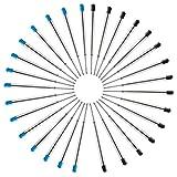 JAOMON 30 Set di Ricariche per Penne Parker, 30 Pezzi Parker Penna a Sfera Refill Nero e B...