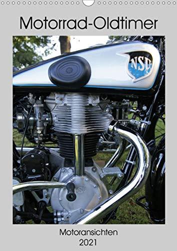 Motorrad Oldtimer - Motoransichten (Wandkalender 2021 DIN A3 hoch)