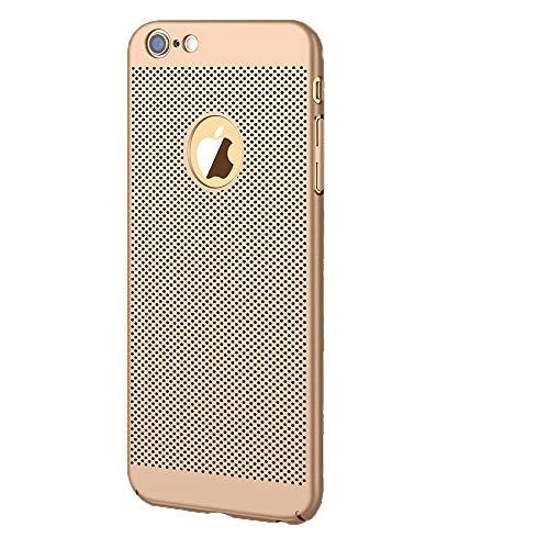 Funda para iPhone 6 6s, Ultra-Delgado Disipadores de Calor Carcasa 360° Anti-Sobrecalentamiento Anti-Arañazos Anti caída Totalmente Protectora Caso de Plástico Duro Case Cover (iPhone 6 6S, Oro)