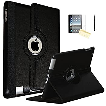 JYtrend iPad Air Case  R  Rotating Stand Smart Case Cover Magnetic Auto Wake Up/Sleep for iPad Air  Air 1  A1474 A1475 A1476  Black