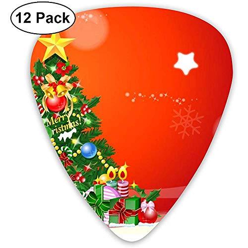 Plektren Cartoon Dekoration Weihnachtsbaum Sampler Plektren - 12er Pack Enthält dünne, mittlere und schwere Instrumente
