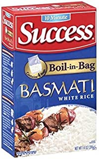 Success Rice, 10 Minute, Boil-In-Bag, Basmati White Rice, 14oz Box (Pack of 4)