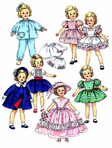 Shirley Temple Doll Clothes Wardrobe 1950's Simplicity 3217 Vintage Sewing Pattern