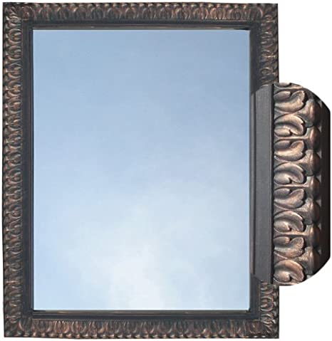 Amazon Com Rectangle Mirror Framed Wall Mount Oil Rubbed Bronze Home Kitchen