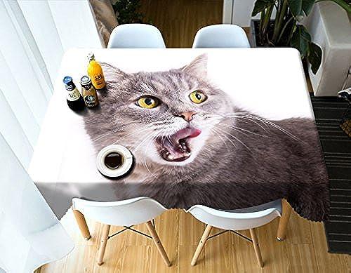 LWF Europ che Tischdecke Rechteckige Tischdecke - 3D personalisierte Tischdecke PG0026 - umweltfreundlich und geschmacklos - Digitaldruck wasserdicht (Größe   Rectangular -228cmx396cm)