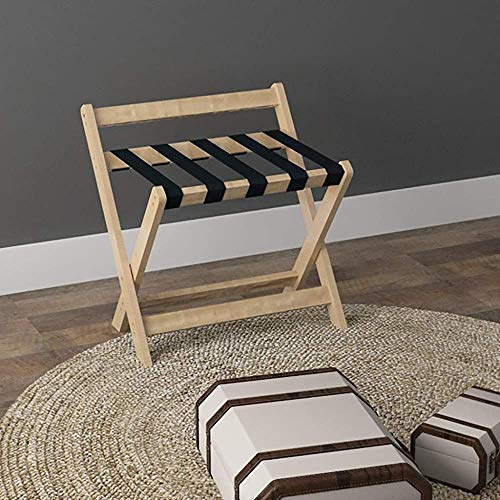 DGSD Hotel foldable luggage rack luggage rack luggage rack bag rack wooden furniture landing tray,wood color