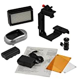Fotodiox Pro LED 98A w/Video Lighting Bracket, Photo/Video Dimmable LED Light Kit, 1x