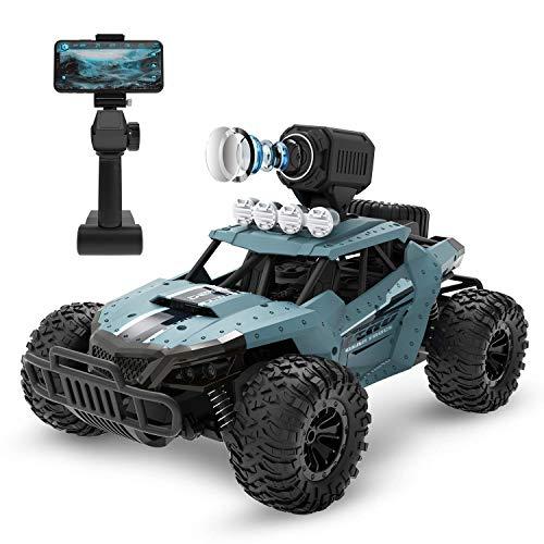 DEERC DE36W RC ferngesteuertes Auto mit Kamera 720P FPV Fahrzeug 1:16 Wasserdicht Spielzeug mit High Speed,Lange Laufzeit Outdoor und Indoor Draußen Spiel 2.4 Ghz für Erwachsene und Kinder ab 8 Jahr